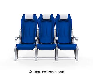 飛行機, 隔離された, 席