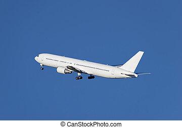 飛行機, 離れて, 取得