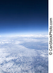 飛行機, 雲, 見られた