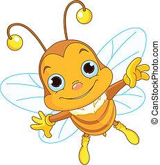 飛行, かわいい, 蜂