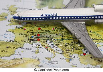 飛行, ヨーロッパ