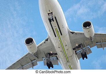 飛行, 低い, ジェット機