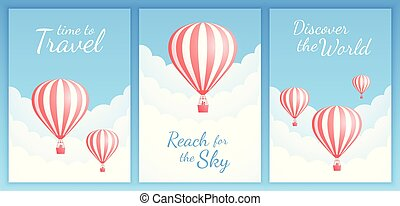 飛行, 広告, balloon, 空, 休暇, 空気, 暑い, ストライプ, 赤