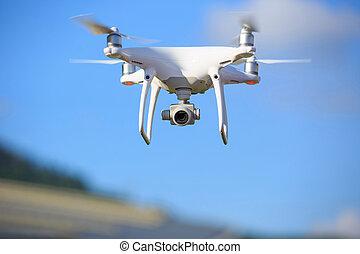 飛行, 無人機, ∥で∥, カメラ, 上に, ∥, 空