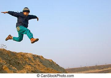 飛行, 男の子