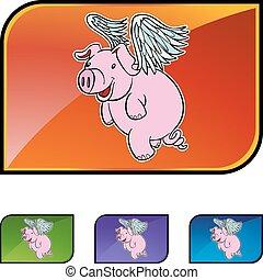 飛行, 豚