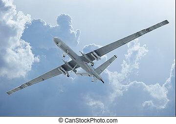 飛行, 雲, 無人機