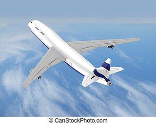 飛行, 飛行機, ジェット機