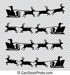飛行, 鹿, santa