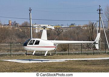 飛行,  1,  r44, 直升飛机,  Robinson, 掠奪