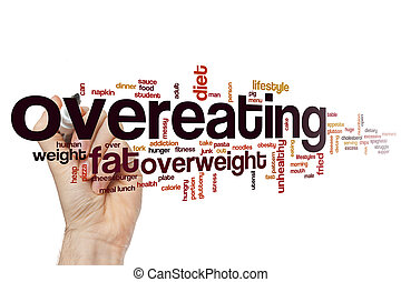 食べすぎること, 概念, 単語, 雲