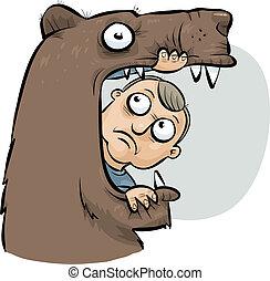 食べられた, 熊