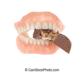 食べること, バー, 総入れ歯, キャンデー
