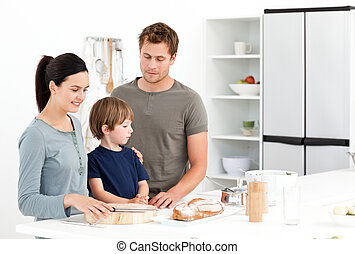 食べること, 台所, bread, 家族, 幸せ