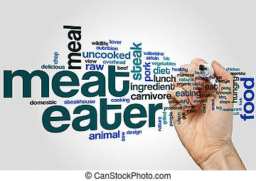 食べる人, 単語, 肉, 雲