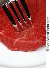 食べる人, 肉