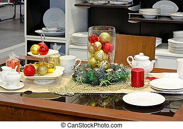 食事をする, クリスマス, テーブル