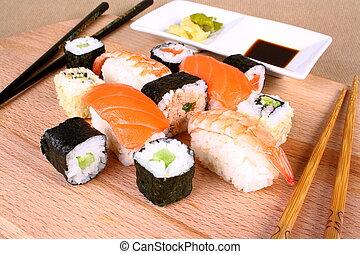 食事をする, 寿司, 喜び, 2, wasabi