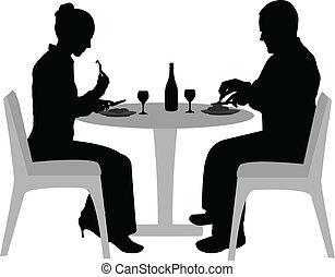 食事をする, 恋人