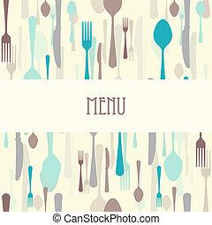 食事をする, cutlery, メニュー