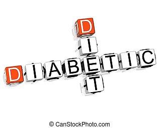 食事, クロスワードパズル, 糖尿病患者