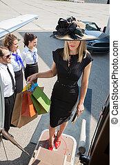 食宿, 袋子, 妇女购物, 喷射, 私人, 当时, 携带