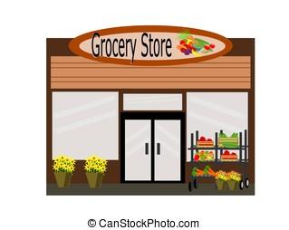 食料雑貨品店, 前部