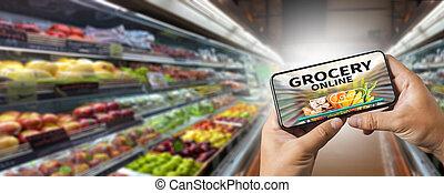 食料雑貨 ショッピング, 食物, オンライン 店, スーパーマーケット, 食料雑貨