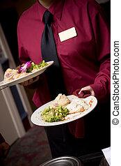 食物, ある, 結婚式, サービスされた