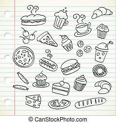 食物, いたずら書き