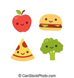 食物, かわいい, 微笑