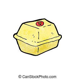 食物, がらくた, カートン, 漫画