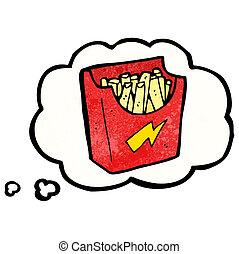 食物, がらくた, 漫画, 切望