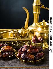 食物, やし, 日付, また, ramadan, 知られている, kurma