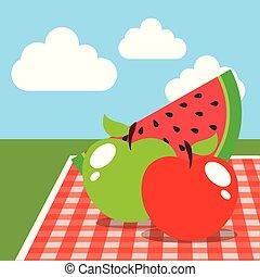 食物, イメージ, ピクニック