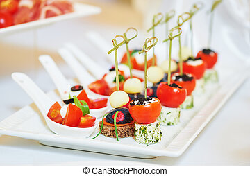 食物, テーブル, レストラン, ケータリング