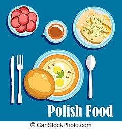 食物, デザート, 伝統的である, ポーランド語, 料理