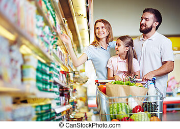 食物, ハイパーマーケット, 購入