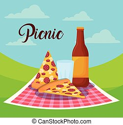 食物, ピクニック, デザイン