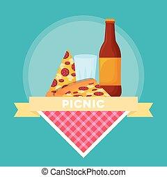 食物, ピクニック, 紋章