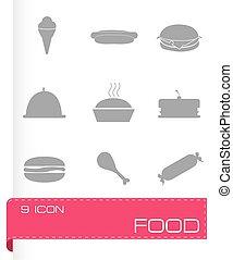 食物, ベクトル, セット, アイコン