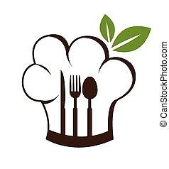 食物, ベクトル, デザイン, illustration.