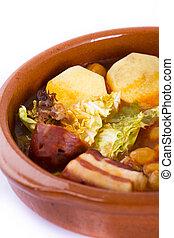 食物, マドリッド, ポット, シチュー, スペイン語, 土器