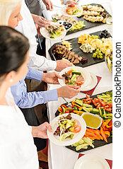 食物, ミーティング, ビュッフェ, ビジネス, ケータリング