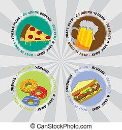 食物, 主題, 飲みなさい, 漫画