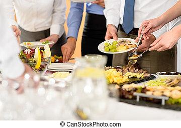 食物, 会社, 祝福, ビジネス, ケータリング