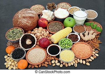 食物, 健康, 絕對素食者, 彙整