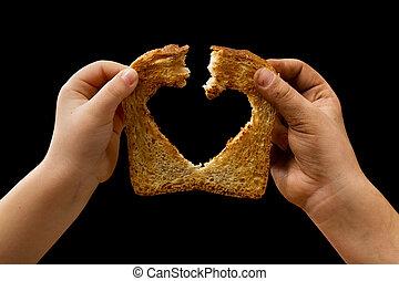 食物, 共有, 愛