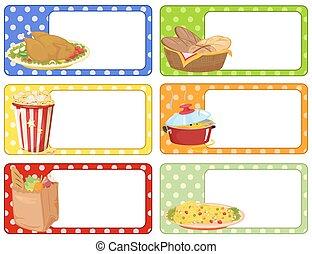 食物, 別, デザイン, 種類, ラベル