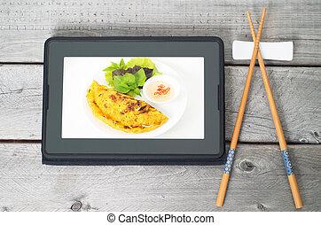 食物, 命令, 概念, アジア人, オンラインで